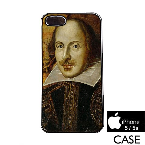 william shakespeare iPhone 5 / 5s WHITE FRAME hard plastic cell phone Case / Cover Great Gift Idea
