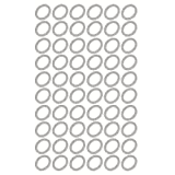 uxcell 13mmx18mmx1.5mm Engine Oil Drain Plug Crush Gasket Aluminum Flat Washer Seals 60pcs