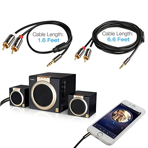 3.5mm to RCA Cable, 3.5mm Male to 2RCA Male Stereo Audio Y C