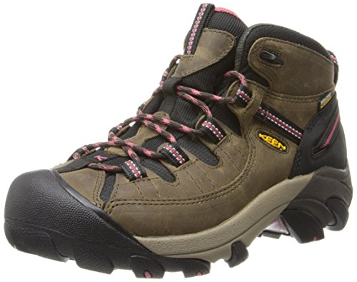 KEEN Womens Targhee II Mid WP Hiking Boot Black OliveSlate Rose 8 M US