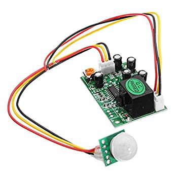ILS - DC 12V 50uA 3 hilos del cuerpo humano Inducción IR PIR sensor piroeléctrico módulo
