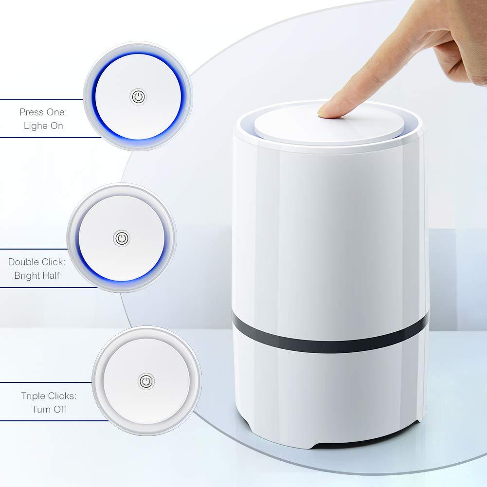 Ansbell Luftreiniger Air Purifier mit HEPA-Filter Aktivkohle,Luftreiniger Ionisator perfekt f/ür Allergiker HEPA Luftreiniger Raucher und auch bei Hausstaubmilben-Allergie