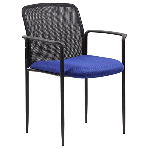 Scranton & Co Stackable Mesh Guest Chair in Blue by Scranton & Co