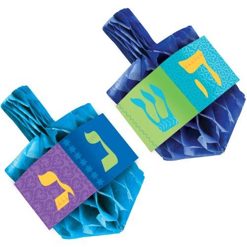 Hanukkah Decorations Ideas (Hanukkah Honeycomb Paper Dreidel Centerpiece Set, 2 Ct. | Party)