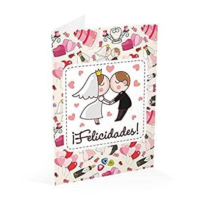 Grupo Erik Editores Tarjeta Felicitacion A4 Boda Felicidades ...
