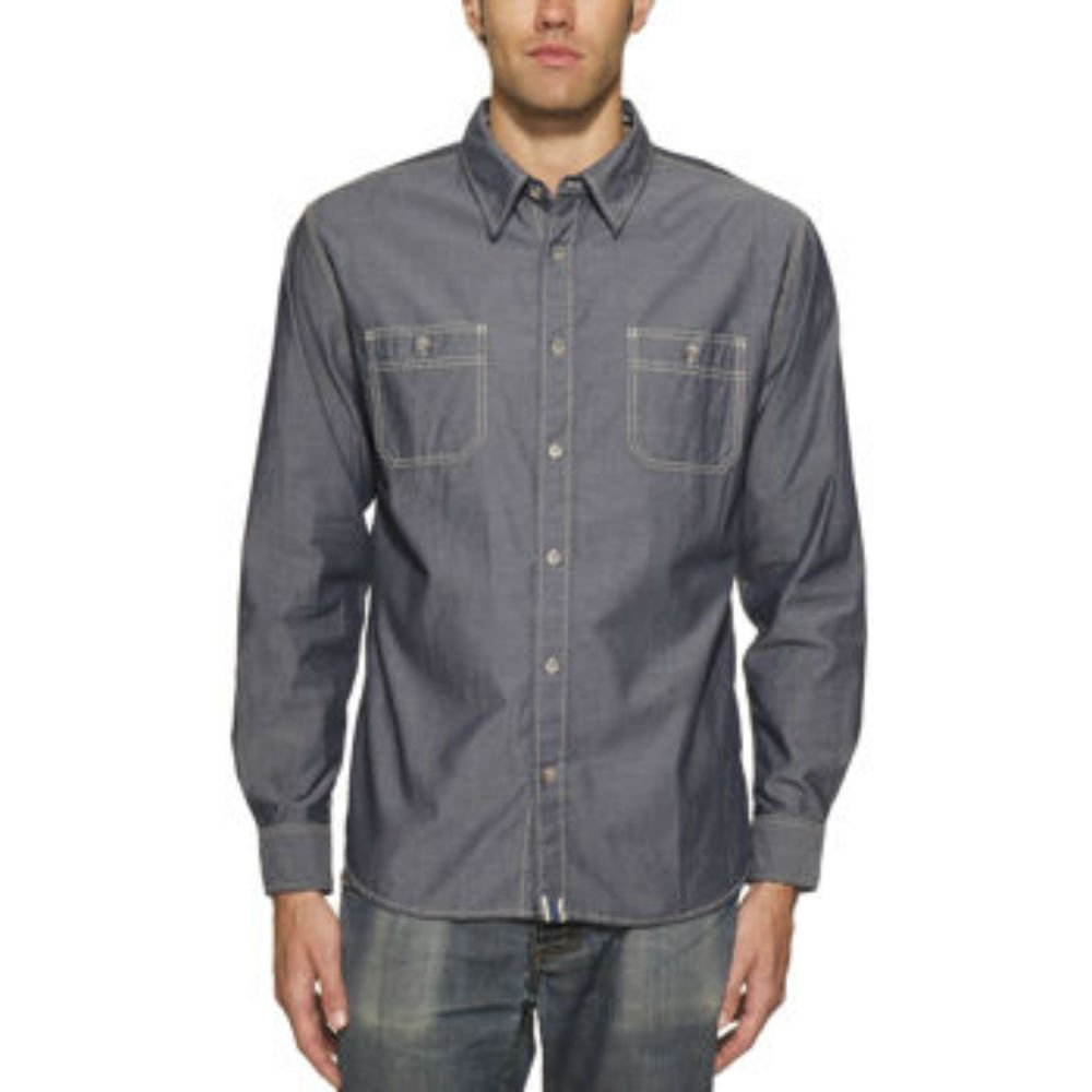 Edwardian Men's Shirts & Sweaters Weatherproof Vintage Yarn Dyed Mens Long Sleeve Woven Shirt $29.99 AT vintagedancer.com