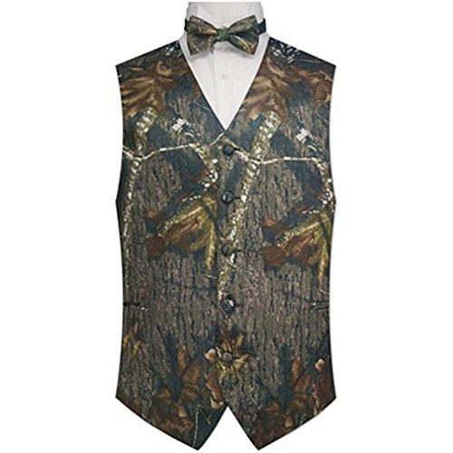 HZWL Man Camouflage Vest & Tie Prom Wedding Waistcoat XXXXL by HZWL