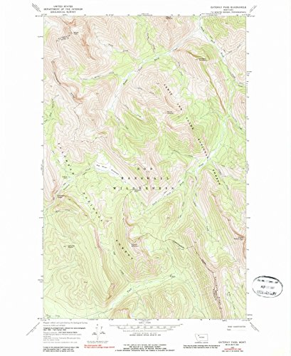 (Montana Maps | 1968 Gateway Pass, MT USGS Historical Topographic Map | Cartography Wall Art | 18in x 24in)
