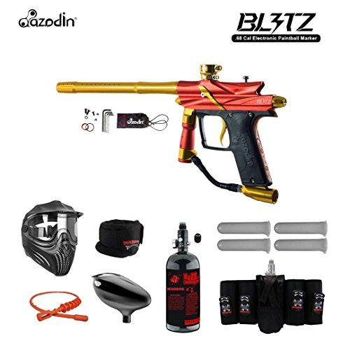 MAddog Azodin Blitz 3 Electronic Elite HPA Paintball Gun Package - Orange