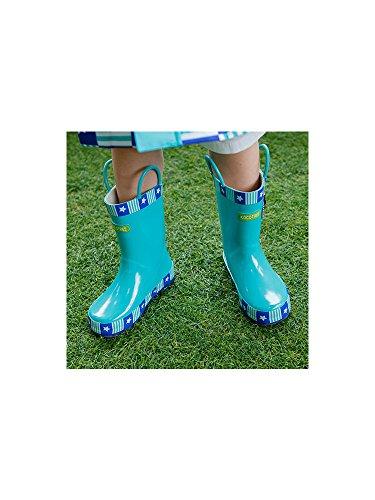 Unisex Kinder Langschaft Gummistiefel Regenstiefel Cartoon Rutschfest Eisblau