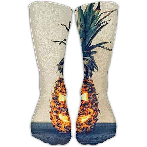 Women's Winter Spring Stockings Halloween Pineapple & Men Soccer Sportswear Long Over The Knee Sport Socks