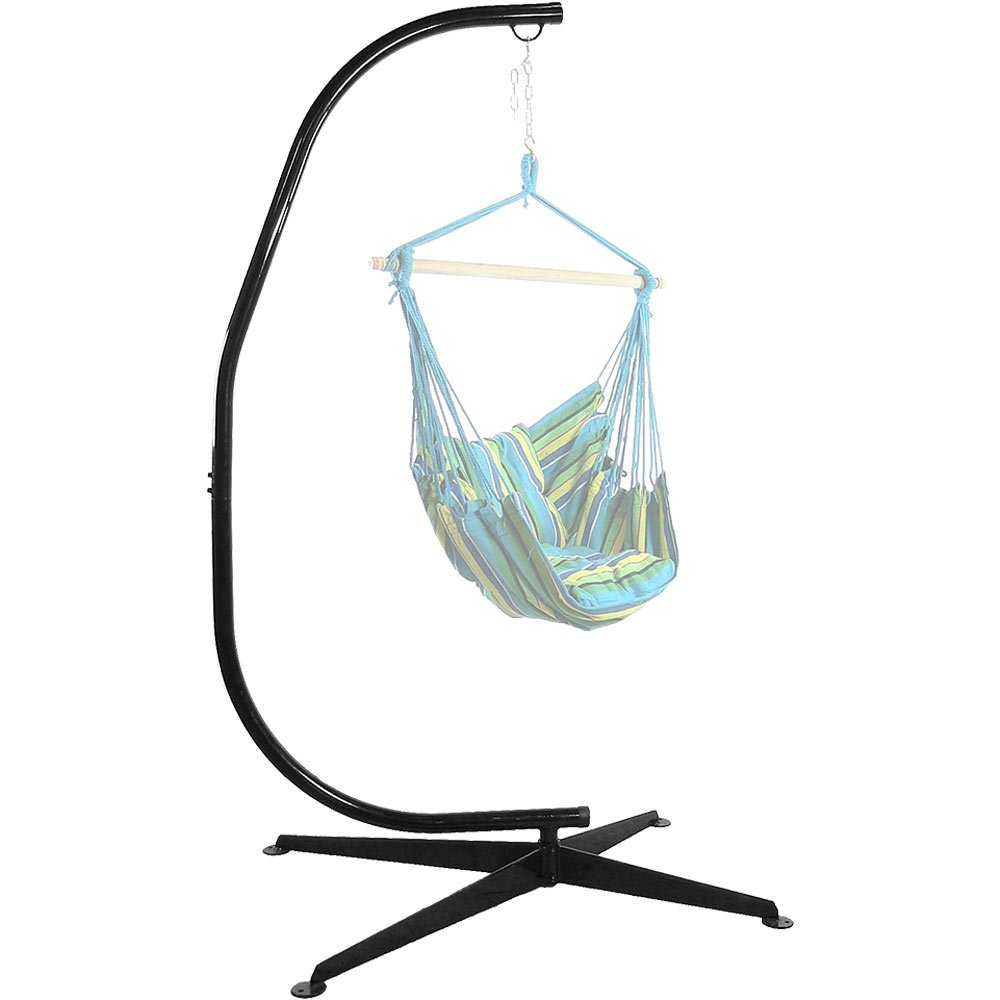 Sunnydaze Durable Steel C-Stand for Hanging Hammock Chairs and Swings, 300 Pound Capacity Sunnydaze Decor 1506-HSHC
