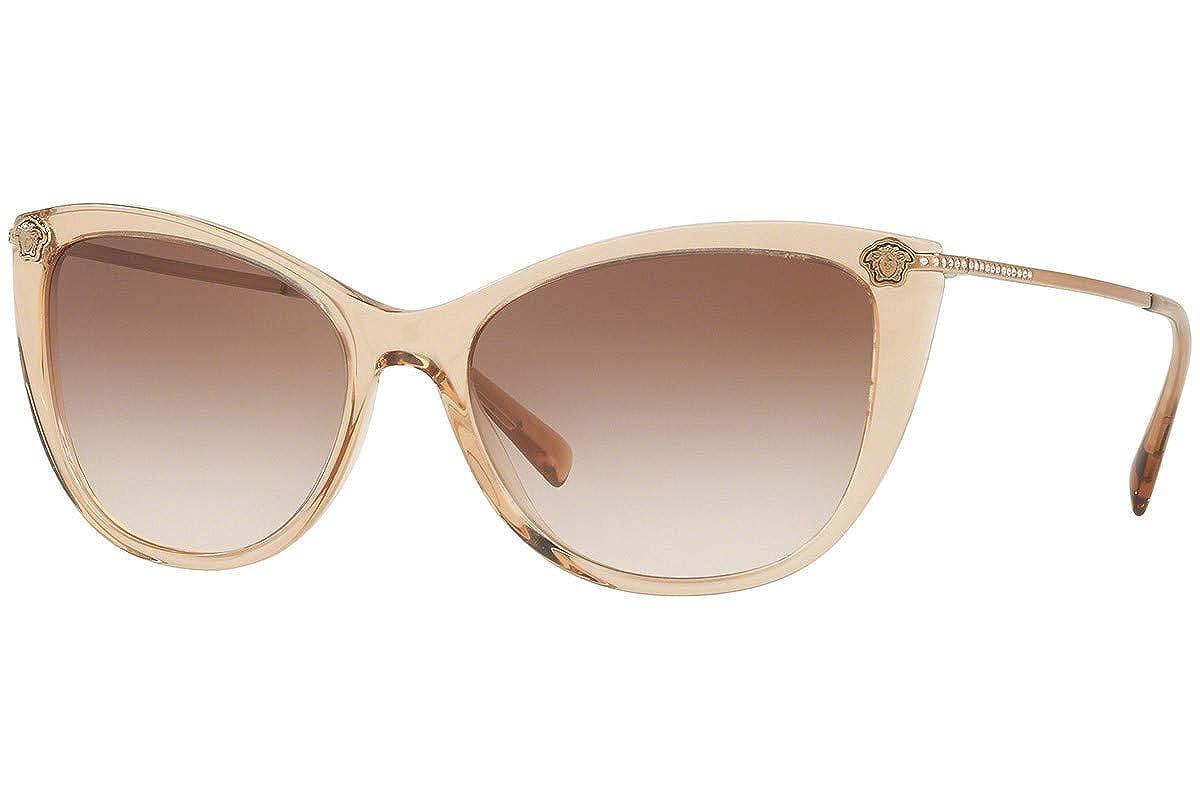 Amazon.com: Versace ve4345-b anteojos de sol transparente ...