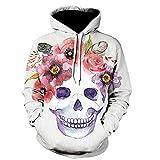 CieKen 3D Skeleton Printed Hoodies Unisex Pullover Hooded Sweatshirt Athletic Casual with Pockets