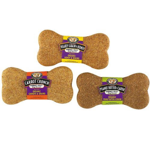 Nature's Animals Gourmet Select Dog Biscuit Display, Peanut Butter and Carob, 24/Pack