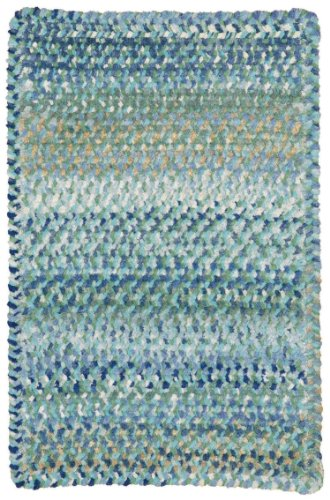 Capel Rugs Ocracoke Cross Sewn Rectangle Braided Area Rug, 24'' x 36'', Light Blue by Capel Rugs