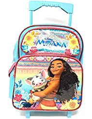 Disney Moana 12in Small Rolling/Roller Girls backpack Plus Pencil Case
