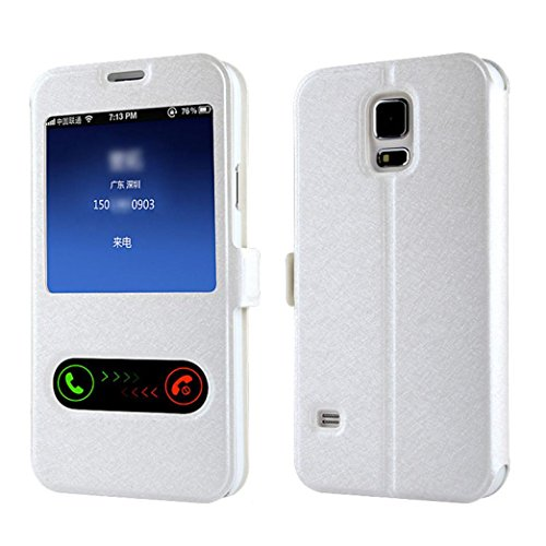 Window Leather Flip Case Cover Skin for Samsung Galaxy S5 G900 i9600 - 4