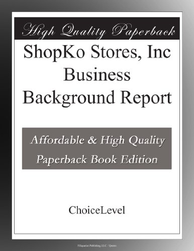 shopko-stores-inc-business-background-report