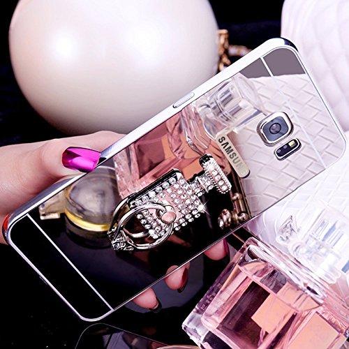 A7 Cover Mirror Clear Miroir Argent Brillant et Scintillante Shiny Bling Samsung Carré Cristal Paillettes Bouteille de 2016 Galaxy Coque Strass A7 Ekakashop Silicone étu Clair Galaxy Argent Luxe Poudre Parfum Coque pour en de 2016 5fn4qBxw