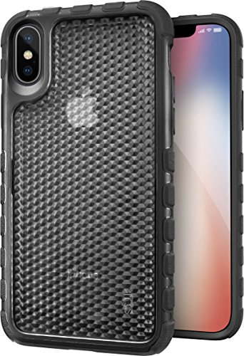 Silk iPhone X / XS Tough Case - SILK ARMOR Protective Rugged iPhone 10 / 10s Grip Cover - Guardzilla - Includes Tempered Glass Screen Protector - Crystal Clear