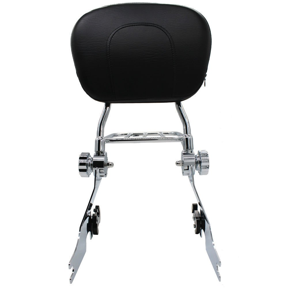 BBUT Chrome Quick Connect Detach Passenger Backrest Sissy Bar w//Flat Luggage Rack for Harley Sportster XL 883 1200 Models 1994-2003 1995 1996 1997 1998 1999 2000 2001 2002