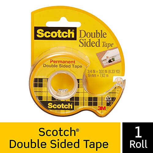 Scotch Brand Double Sided Tape, Strong, Photo-Safe, Engineered for Holding, 3/4 x -