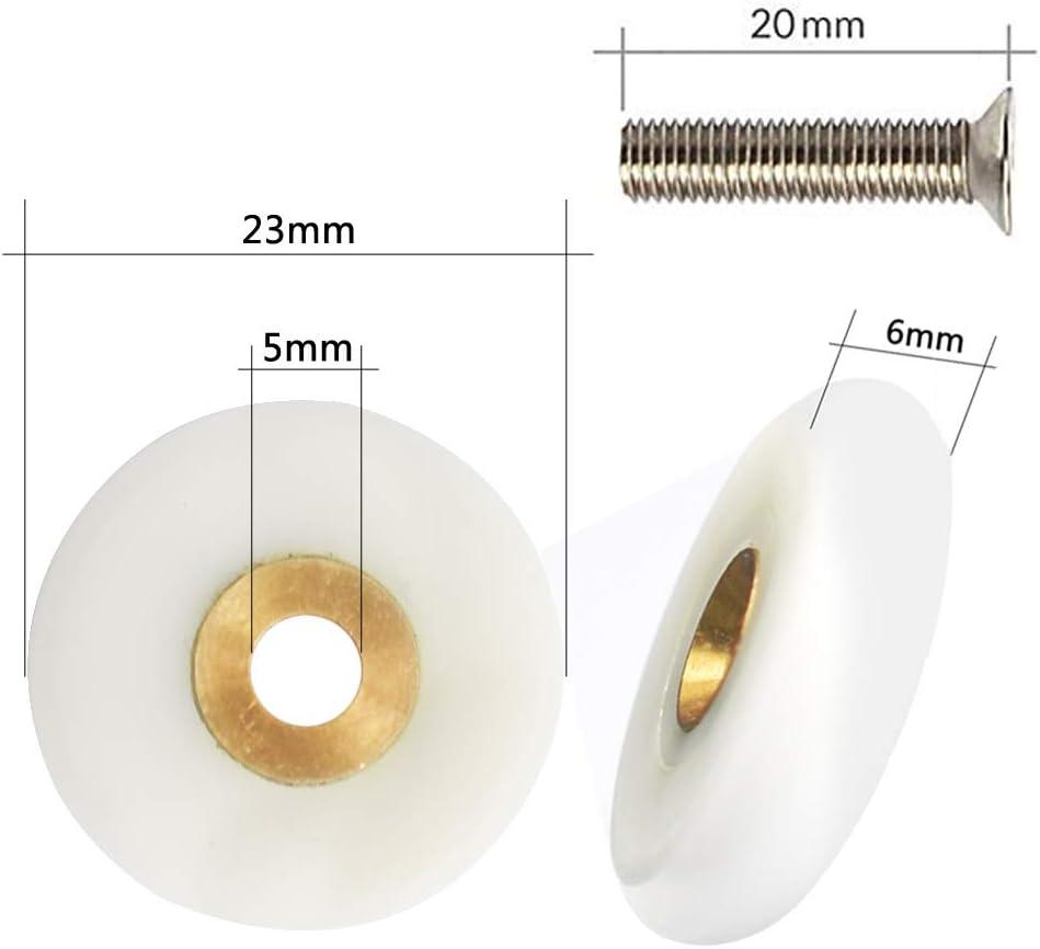 YUANQIAN 20 mm, con tornillos de 20 mm Ruedas de ducha