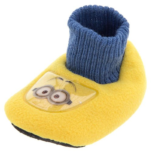 "Despicable Me 2 ""Minion"" Yellow Infant Toddler Sock Top Slippers"