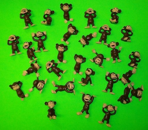 Monkey Figures 25 Tiny Plastic Monkey Figures Party Favors by (Monkey Pinata)