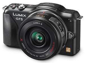 Panasonic Lumix DMC-GF5XK Live MOS Micro 4/3 Mirrorless Digital Camera with 3-Inch Touch Screen and 14-42 Power Zoom Lens (Black)