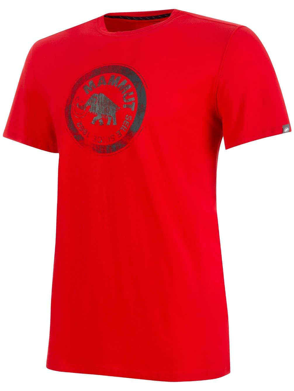 MAMMUT SEILE , Rojo Camiseta, Hombre, Rojo , (magma-Titanium), L b5f3ce