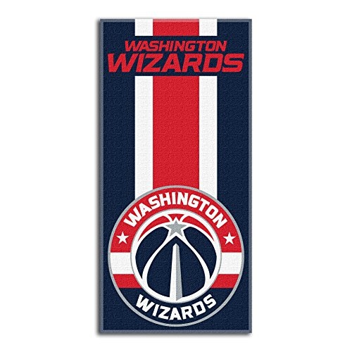 fan products of Northwest NBA Washington Wizards Beach Towel, 30 X 60 Inches
