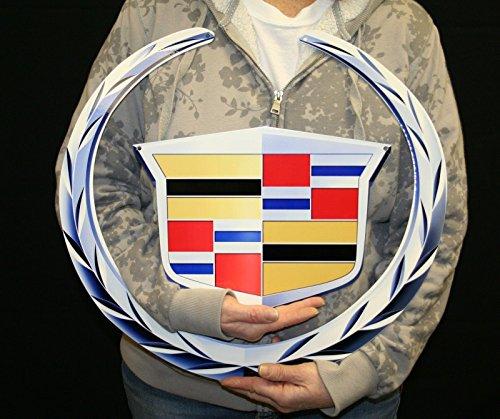 Emblem Metal Sign - Cadillac Emblem Metal Sign 2 Pc (19