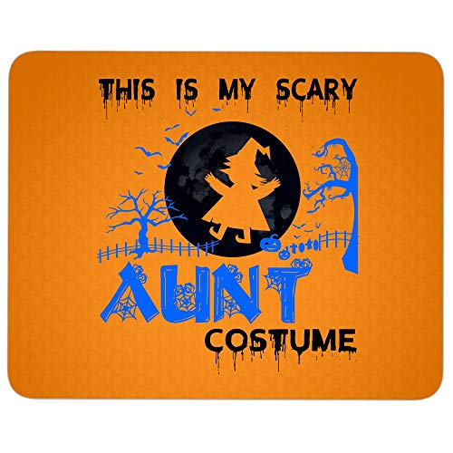 This is My Scary Aunt Costume Mouse Pad for Typist Office, I Love Hallowen Quality Comfortable Mouse Pad (Mouse Pad - Orange) ()