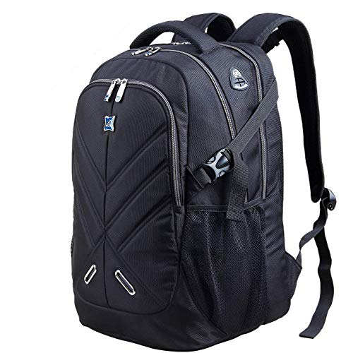 (Backpack for Men and Women Fit 17 Inches All 15.6 Inches Laptops Waterproof Shockproof OUTJOY School Bag Travel Bag Book Bag Business Work Daypack Black)