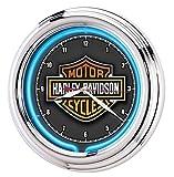 HARLEY-DAVIDSON Essential Bar & Shield Neon Clock