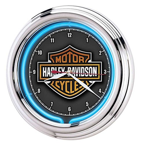 Harley-Davidson Essential Bar & Shield Neon Clock -