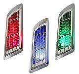 【LED搭載!】 ダミーダクト ソーラー給電 配線不要 左右セット 簡単取付 オシャレ 外装 カー用品