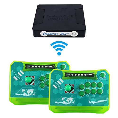 Wisamic Pandora Box 4S Plus 815 in 1 Game Console with Wireless Arcade Sticks Controller Jamma Game Board Joystick Arcade Control Panel Support XBOX360 PS3 PC TV -