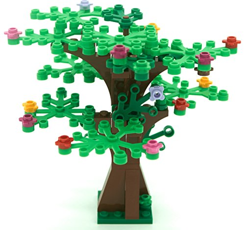 Lego Custom Instructions (LEGO Custom Creative Tree Kit 2 (Brown with 16 Green and Bright Green Leaves and 18 Flowers))