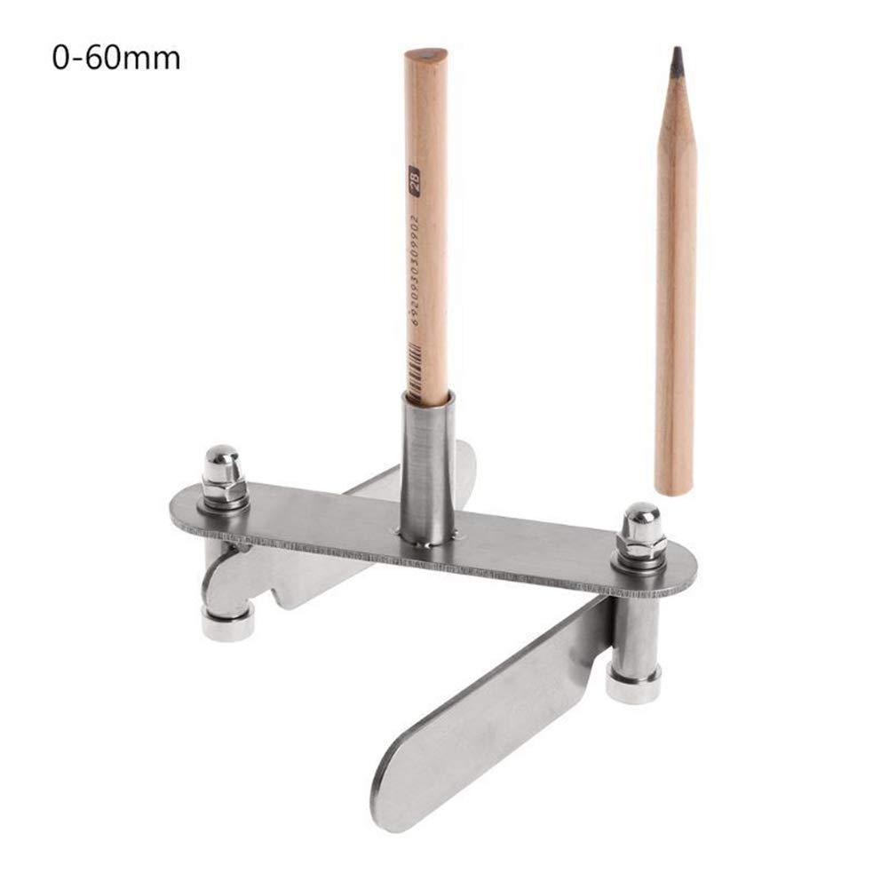 0-60mm Yzki Buscador de Centro de marcaci/ón para carpinter/ía Herramienta de marcaci/ón de Centro de carpinter/ía con l/ápices Show