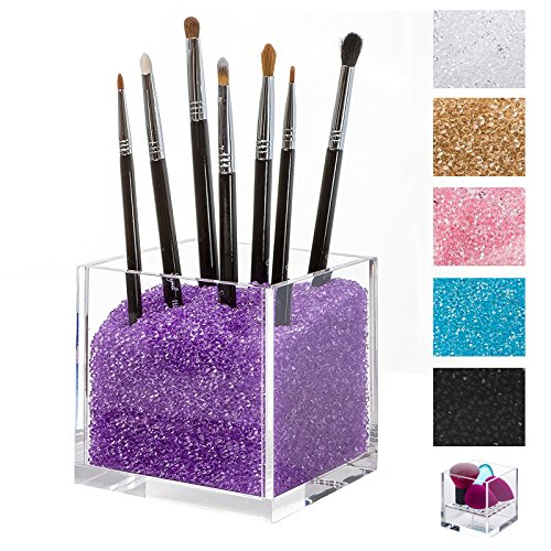 Acrylic Cosmetics Organizer & Makeup Brushes Holder with PUR