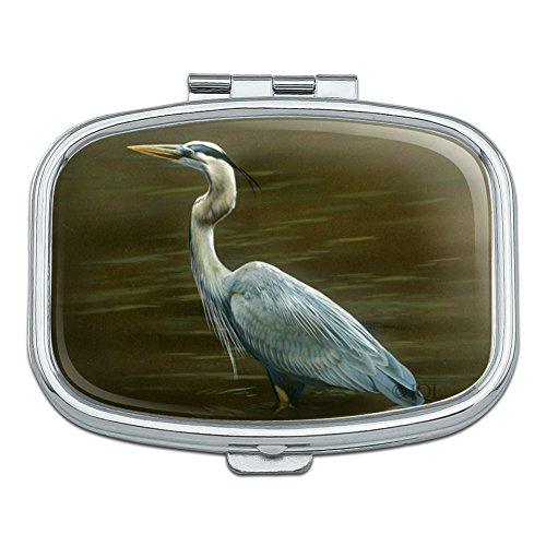 Blue Case Heron - Great Blue Heron Rectangle Pill Case Trinket Gift Box