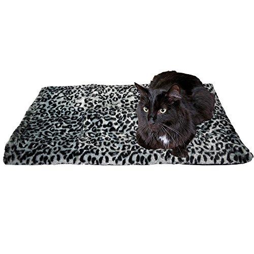 Thermal Cat Pet Dog Warming Bed Mat, Comfortable Nap, Sleeping and Crate Mat for Cats (Large, Grey)