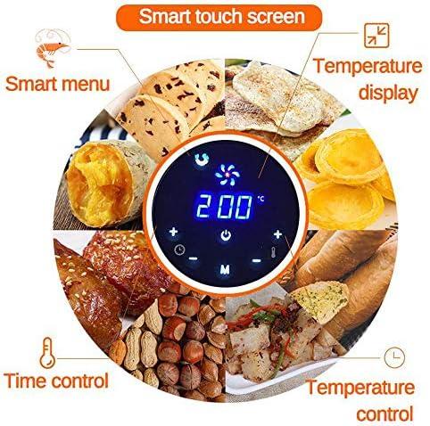 LABYSJ 1400W 5.2L Ölfreie Luftfritteuse Health Fryer Herd Smart Touch LCD Luftfritteuse Pizza Multifunktions-Smartfritteuse Für Pommes Frites