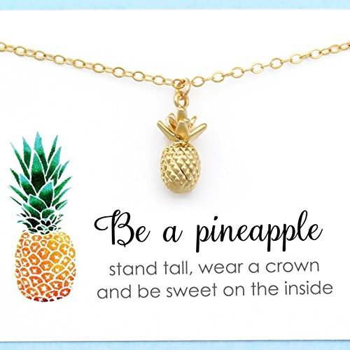 Tiny Pineapple Charm • Stand Tall & Be Sweet • 14k Gold Filled Chain • Summer Jewelry • Southern Hospitality • Inspirational Gift for Her • Thank (Pineapple Jewelry)