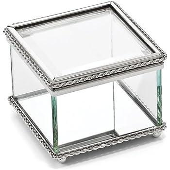 5f7f73245c4 Amazon.com: Creative Gifts Glass Square Hinged Box: Home & Kitchen