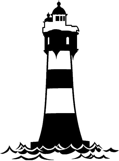 Samunshi Aufkleber Leuchtturm Roter Sand Autoaufkleber In 12 Größen Und 25 Farben 67x90cm Schwarz Küche Haushalt