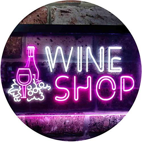 ADVPRO Wine Shop Bar Pub Dual Color LED Neon Sign White & Purple 16 x 12 st6s43-i0091-wp